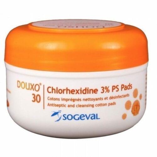 DOUXO PYO CHLORHEXIDINE 3% PS PADS 30 cotons