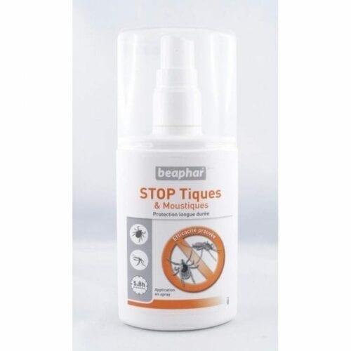BEAPHAR REPULSIF TIQUES ET MOUSTIQUES HUMAIN / ANIMAL en spray. pratique et en promo sur votre pharmacie en ligne ce spray anti moustique et idéal pour chien et humain