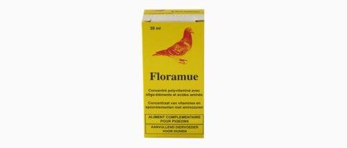 Floramue est un complément alimentaire pour pigeon concentré polyvitaminé avec oligo-éléments et acides aminés. Conditionné en flacon de 15ml et 30ml.