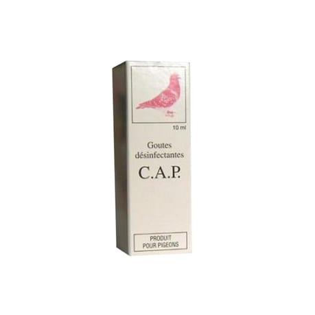 Les GOUTTES C.A.P. du laboratoire Moureau, permettent une hygiène parfaite des fosses nasales et lacrymales du pigeon.
