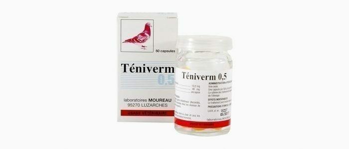 Pharmacie en ligne à Narbonne propose Teniverm pigeon Moureau. Qui permet de traiter les probblèmes gastro-intestinaux