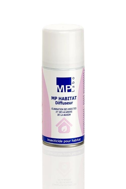 MP Habitat Diffuseur, spray insecticide pour locaux fermés, qui permet l'élimination rapide et durable des insectes, acariens et araignées de votre maison.